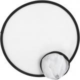 Frisbee, Weiß, D: 25 cm, 5 Stck./ 1 Pck.