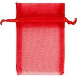 Organza-Beutel, Rot, Größe 7x10 cm, 10 Stck./ 1 Pck.