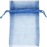 Organza-Beutel, Blau, Größe 7x10 cm, 10 Stck./ 1 Pck.