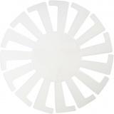 Korbflechtschablone, Transparent, H: 8 cm, D: 14 cm, 10 Stck./ 1 Pck.