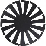 Korbflechtschablone, Schwarz, H: 8 cm, D: 14 cm, 10 Stck./ 1 Pck.