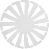 Korbflechtschablone, Transparent, H: 6 cm, D: 8 cm, 10 Stck./ 1 Pck.