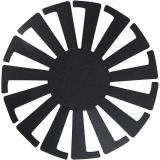 Korbflechtschablone, Schwarz, H: 6 cm, D: 8 cm, 10 Stck./ 1 Pck.