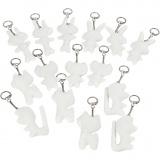 Schlüsselanhänger aus Stoff, Weiß, Größe 6-10 cm, 15 Stck./ 1 Pck.