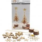 Materialset Weihnachten, Gold, dicke 0,55 mm, 1 Set