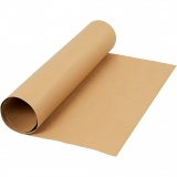 Kunstlederpapier, Hellbraun, B: 50 cm, Einfarbig, 350 g, 1 m/ 1 Rolle