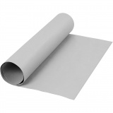 Kunstlederpapier, Grau, B: 50 cm, Einfarbig, 350 g, 1 m/ 1 Rolle