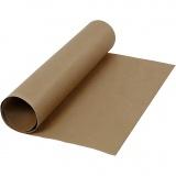 Kunstlederpapier, Dunkelbraun, B: 50 cm, Einfarbig, 350 g, 1 m/ 1 Rolle
