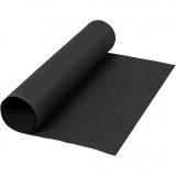 Kunstlederpapier, Schwarz, B: 50 cm, Einfarbig, 350 g, 1 m/ 1 Rolle
