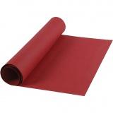 Kunstlederpapier, Rot, B: 50 cm, Einfarbig, 350 g, 1 m/ 1 Rolle