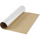 Kunstlederpapier, Silber, B: 49 cm, Einfarbig,Foliedetails, 350 g, 1 m/ 1 Rolle