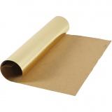 Kunstlederpapier, Gold, B: 49 cm, Foliedetails, 350 g, 1 m/ 1 Rolle