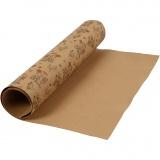 Kunstlederpapier, Hellbraun, B: 49,5 cm, Einfarbig,Bedruckt, 350 g, 1 m/ 1 Rolle