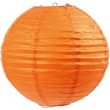 Reispapier-Lampe/-Lampion, Orange, D: 20 cm, 1 Stk