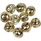 Schellen, Gold, D: 13+15+17 mm, 12 sort./ 1 Pck