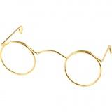 Brillen, Gold, B: 60 mm, 10 Stck./ 1 Pck.