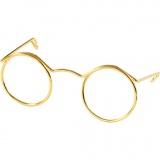 Brillen, Gold, B: 50 mm, 10 Stck./ 1 Pck.