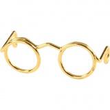 Brillen, Gold, B: 25 mm, 10 Stk/ 1 Pck