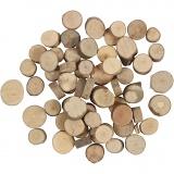 Holzscheibe, D: 10-15 mm, 25 g/ 1 Pck