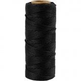 Bambuskordel, Schwarz, dicke 1 mm, 65 m/ 1 Rolle