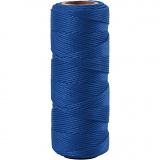 Bambuskordel, Blau, dicke 1 mm, 65 m/ 1 Rolle