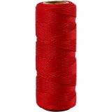 Bambuskordel, Rot, dicke 1 mm, 65 m/ 1 Rolle