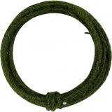 Jute-Draht, Grün, Dicke 2-4 mm, 3 m/ 1 Pck
