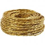 Papierkordel, Gold, dicke 3,5-4 mm, 25 m/ 1 Rolle