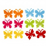 Filz Schmetterlinge, Größe 3 cm, dicke 1,5 mm, 160 Stck./ 1 Pck.