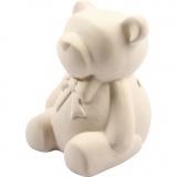 Spardose, Bär, Weiß, H: 9 cm, 10 Stck./ 1 Box