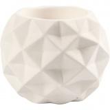 Teelichthalter, Weiß, H: 8 cm, Lochgröße 2,2+4 cm, 6 Stck./ 1 Box