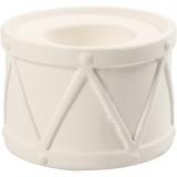 Kerzenständer, Weiß, H: 6,6 cm, D: 9,3 cm, Lochgröße 2,2+4 cm, 2 Stck./ 1 Pck.