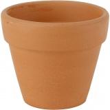Blumentopf, H: 8 cm, D: 9 cm, 24 Stk/ 1 Box