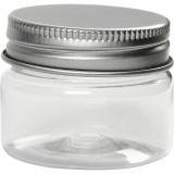 Kunststoffglas mit Schraubverschluss, H: 35 mm, D: 45 mm, 10 Stk/ 1 Pck