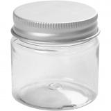 Kunststoffglas mit Schraubverschluss, H: 45 mm, D: 44 mm, 50 ml, 10 Stk/ 1 Pck