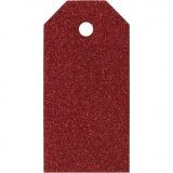 Geschenkanhänger, Rot, Größe 5x10 cm, 300 g, 15 Stck./ 1 Pck.