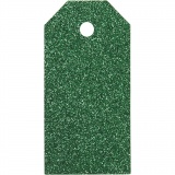 Geschenkanhänger, Grün, Größe 5x10 cm, Glitter, 300 g, 15 Stck./ 1 Pck.