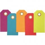 Geschenkanhänger, Sortierte Farben, Größe 4x8 cm, 250 g, 20 Stck./ 1 Pck.