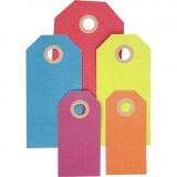 Geschenkanhänger, Sortierte Farben, Größe 3x6+4x8+5x10 cm, 220 g, 500 Stck./ 1 Pck.
