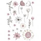 Anhänger, Beige, Rosa, Weiß, Größe 2,2-10 cm, 72 Stck./ 1 Pck.