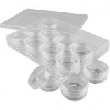 Acryldosen, H: 20 mm, D: 35 mm, 10 ml, 12 Stk/ 1 Set