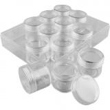 Acryldosen, H: 30 mm, D: 35 mm, 20 ml, 12 Stk/ 1 Set