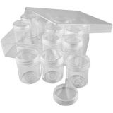 Acryldosen, H: 47 mm, D: 37 mm, 35 ml, 12 Stk/ 1 Set