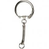 Schlüsselanhänger, L: 6 cm, D: 2,3 cm, 25 Stck./ 1 Pck.