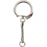 Schlüsselanhänger, L: 6 cm, D: 2,3 cm, 5 Stck./ 1 Pck.