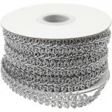 Borte, Silber, B: 10 mm, 10 m/ 1 Pck.
