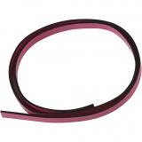 Lederband Imitat, Pink, B: 10 mm, Dicke 3 mm, 1 m/ 1 Pck