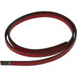 Lederband Imitat, Rot, B: 10 mm, Dicke 3 mm, 1 m/ 1 Pck