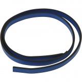 Lederband Imitat, Blau, B: 10 mm, Dicke 3 mm, 1 m/ 1 Pck