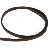 Lederband Imitat, Braun, B: 10 mm, Dicke 3 mm, 1 m/ 1 Pck